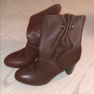 Tory Burch Brown Leather Booties